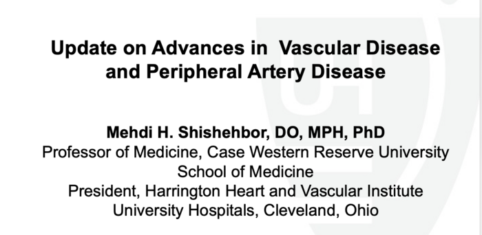 Advanced Treatment of Peripheral Vascular Disease: Nose to Toes in the Next Century