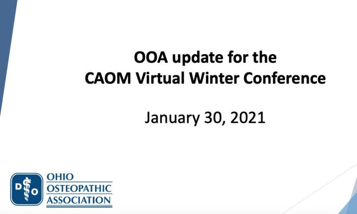 Ohio Osteopathic Association Update