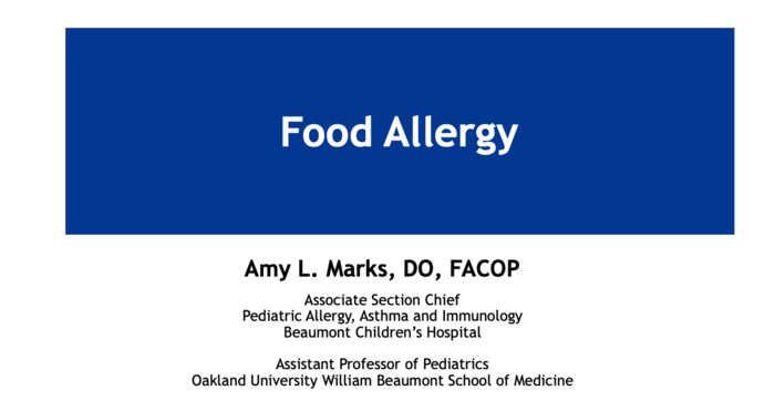 Food Allergy in the Infant