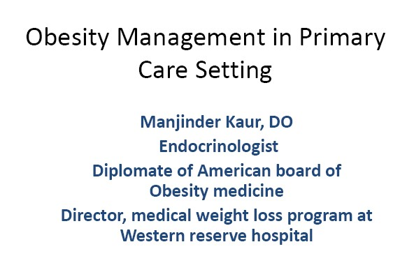 Obesity Management in Primary Care Setting